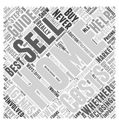 Home selling guide word cloud concept vector