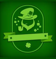 leprechaun template in green vector image vector image