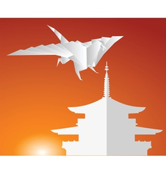 paper dragon vector image