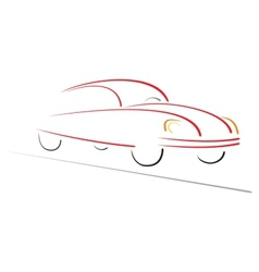 Racing car on road vector image vector image