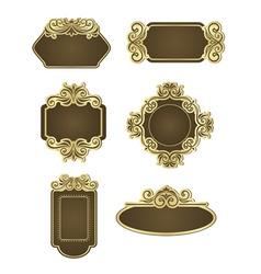 retro wedding templates vector image vector image