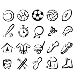 sports equipment set isolated icons vector image