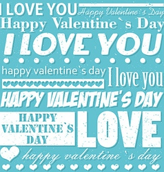 Valentines Day typographic background vector image vector image