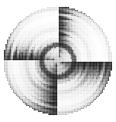 Abstract black and white dotted vector image