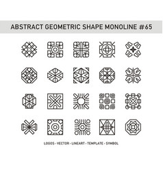 Abstract geometric shape monoline 65 vector