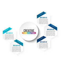 abstract infographics number 5 options template vector image