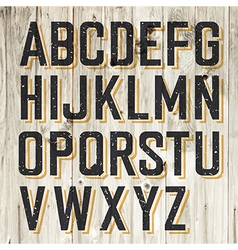 alphabet on wooden vector image