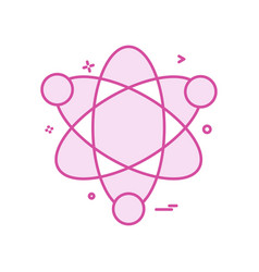 atom science icon design vector image