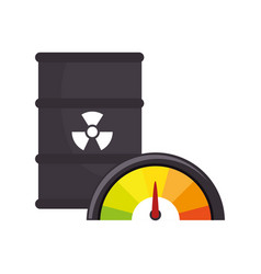 Atomic tank isolated icon vector