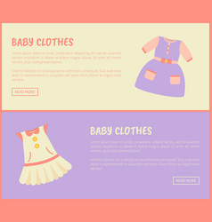 baby clothes dress collection vector image