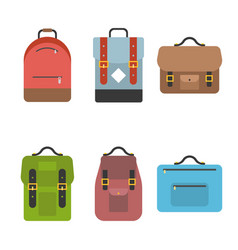 bag icon include briefcase backpack school bag vector image