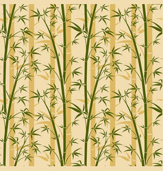 Bamboo tree seamless background vector