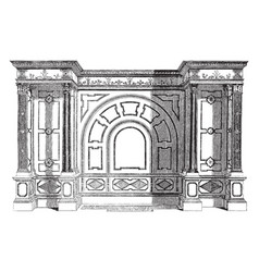 Bath early 18th century vintage engraving vector