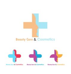 Beauty care logo design template vector