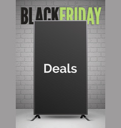 black friday deals announcement realistic vector image