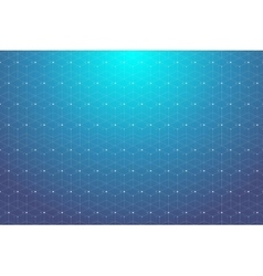 Blue geometric pattern with connected lines and vector image