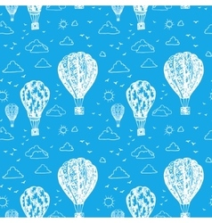 Blue seamless pattern with balloons vector