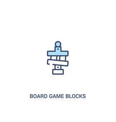 Board game blocks concept 2 colored icon simple vector