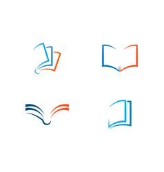 book education logo template vector image