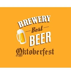 Brewery and beer banner vector image