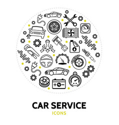 car service round concept vector image