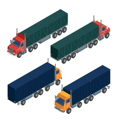 Cargo Transportation Isometric Truck Delivery vector