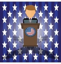 cartoon election race in vector image