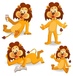 Cartoon lions vector image