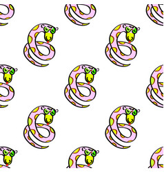 cartoon snake seamless kids funny endless vector image