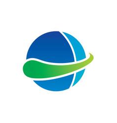 circle abstract logo design vector image
