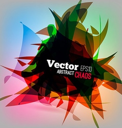 Colorful Chaotic vector image