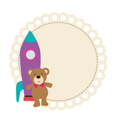 cute baby toys icon vector image