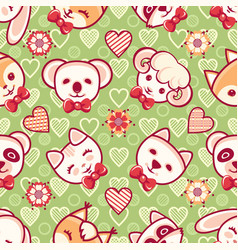 Cute pets seamless pattern vector