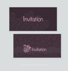 dark rich color tender rose floral vector image
