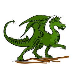 dragon kids sketch vector image
