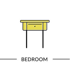 Drawer bedroom furniture line icon vector