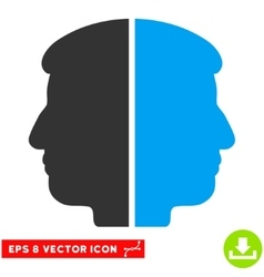 Dual Face Eps Icon vector