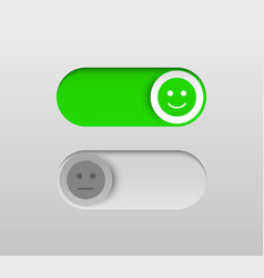 elegant on and off switch buttons vector image