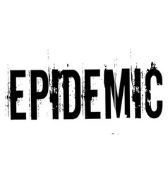 Epidemic stamp typ vector