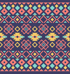 Ethnic or tribal seamless pattern fabric design vector