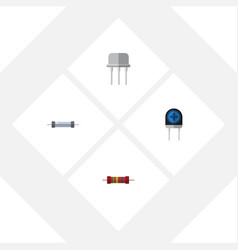 flat icon technology set of resist resistance vector image