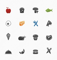 Food symbol icons vector image