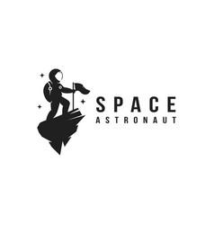 Fun explorer space astronaut mascot logo icon vector