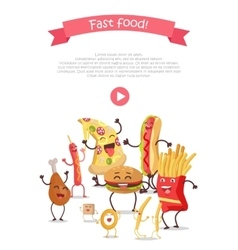 Funny Food Story Conceptual Banner Web Site Design vector
