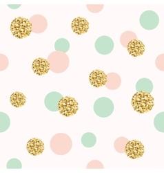 Glitter confetti polka dot seamless pattern vector