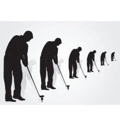 golfers vector image