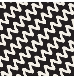 Hand Drawn ZigZag Diagonal Wavy Stripes vector image