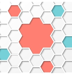 Hexagon background vector