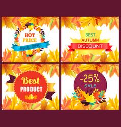 hot price best autumn discount vector image