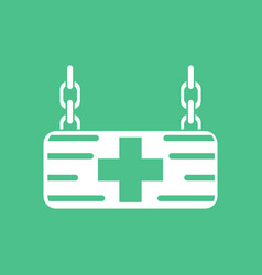 Icon medical sign vector